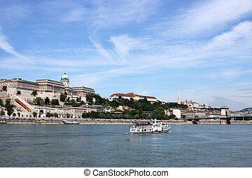 Royal castle Danube riverside Budapest Hungary