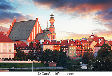 Royal Castle in Warsaw - Arcades. Old Town in Warsaw / Poland