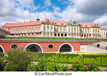 Royal Castle in Warsaw - closeup to East side view, Kubicki...