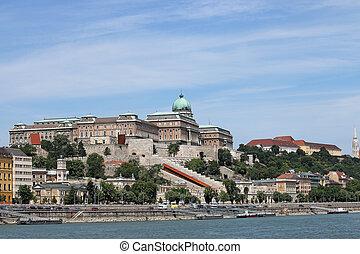 Royal castle on hill Budapest cityscape Hungary