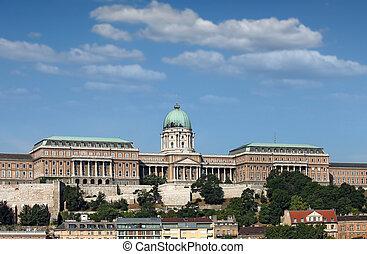 royal castle on hill Budapest