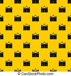 Royal castle pattern seamless repeat geometric yellow for...