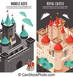 Royal Castle Vertical Banner Set