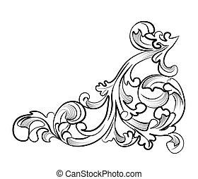Royal classic ornament element