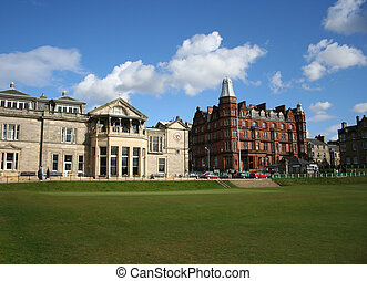 Royal clubhouse - Royal and Ancient clubhouse, St Andrews,...