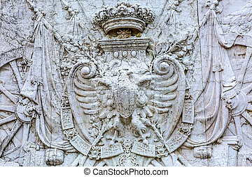 Royal Coat of Arms Victor Emanuele Monument Rome Italy -...