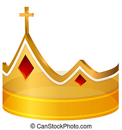 Royal Cross Gold Crown