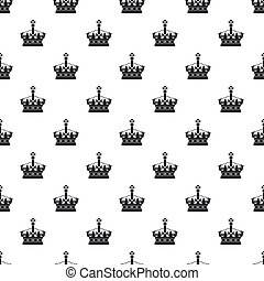 Royal crown pattern, simple style