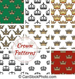 Royal crown seamless pattern background