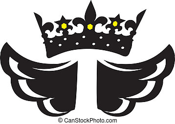 Royal crown with wings