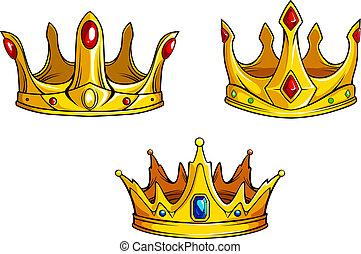 Royal crowns set