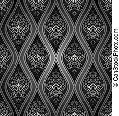 Royal damask seamless wallpaper