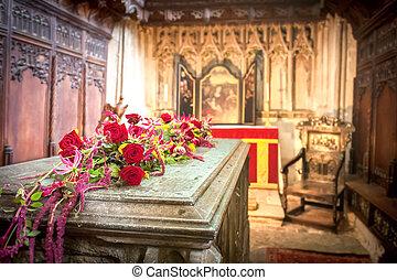 royal, enterrement, chambre