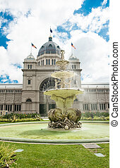 Royal Exhibition Building near Carlton Gardens in Melbourne,...