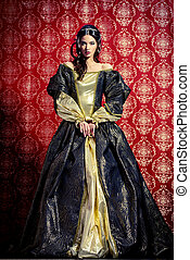 royal family - Full length portrait of a beautiful young...
