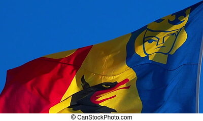 Royal flag in Stockholm. Sweden. - Royal flag in Stockholm....
