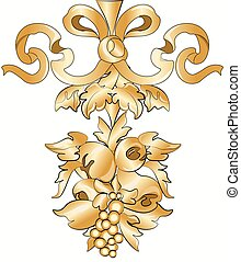 Royal floral classic ornament element