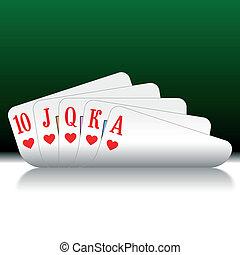 Royal Flush - Vector illustration of Poker Cards - Royal...