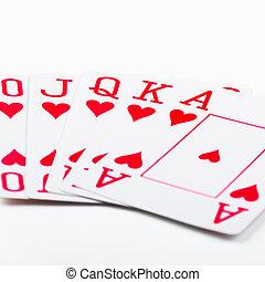 royal flush, kartenspielen