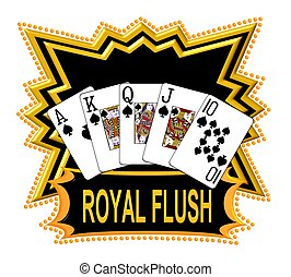 royal flush, logo