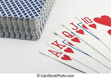 Royal Flush of Hearts Poker Hand