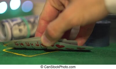 Royal Flush, Poker Cards - Close up of Royal Flush cards....
