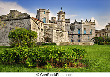 "Royal Force castle in Old Havana - A view of ""Castillo de la..."