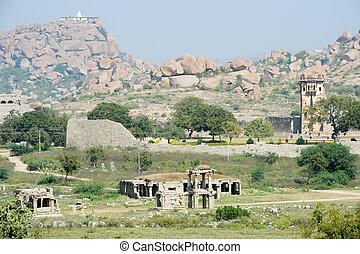 Royal fort of Zenana Enclosure in front of Matanha hill at ...