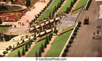 Royal fountain miniature model