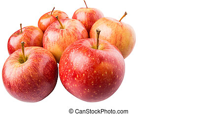 Royal Gala Apple - Royal gala apple on white background
