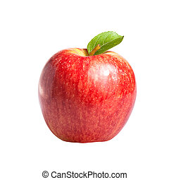 Royal Gala apple isolated on a white background. Shallow...