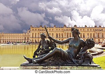 Versailles Castle, Paris, France - Royal Garden in the...