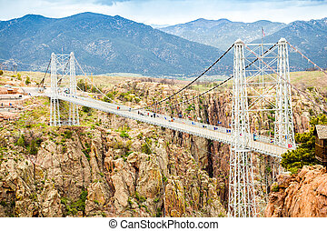 Royal George Suspension Bridge, Colorado, USA - Royal George...