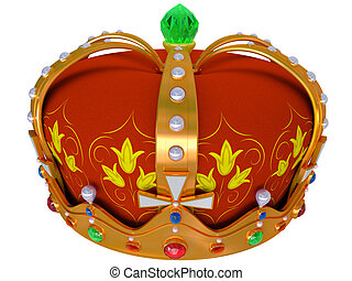 Royal gold crown isolated on a white background