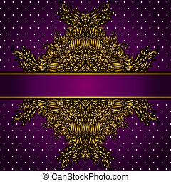 Royal Golden Frame Vector Illustration