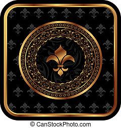 royal golden frame with