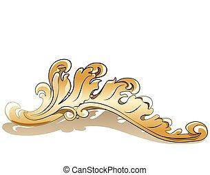 Royal golden ornament element. Vector