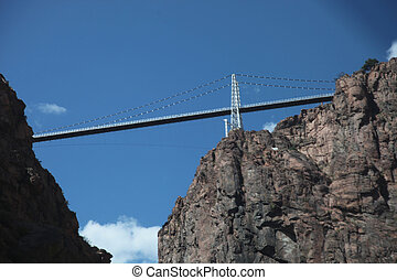 Royal Gorge Bridge from Below - A view of the Royal Gorge ...