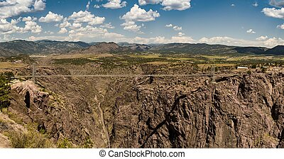 Royal Gorge Bridge Panorama - A panorama of the famous Royal...