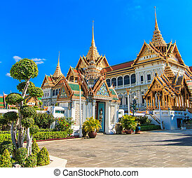 Royal grand palace ,Wat Phra Kaeo in Bangkok, Asia Thailand