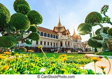 Royal grand palace ,Wat Phra Kaeo in Bangkok, Asia Thailand