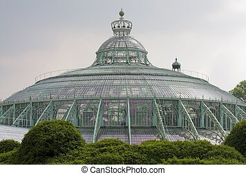 Royal Greenhouses at the Palace in Laken (Brussels) Belgium
