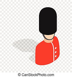 Royal guardsman isometric icon 3d on a transparent...