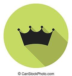 royal, héraldique, couronne, plat, icône
