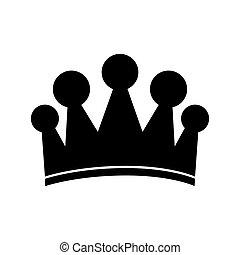 royal, image, couronne, icône