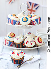 Cupcakes to celebrate the Diamond Jubilee of Queen Elizabeth II