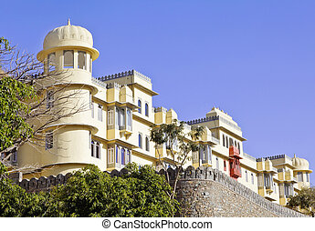 Royal Kumbhalghar Villas India heritage property on the back...