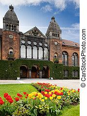 The royal library garden in Copenhagen Denmark