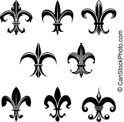 Royal lily - Royal french lily symbols for design and ...