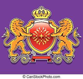 Royal Lions Shield Crown Badge
